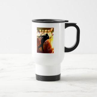 Bowler with Strike Explosion 15 Oz Stainless Steel Travel Mug