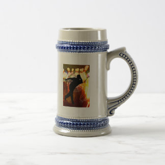 Bowler with Strike Explosion 18 Oz Beer Stein