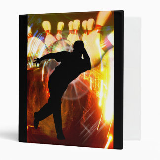 Bowler with Strike Explosion 3 Ring Binders
