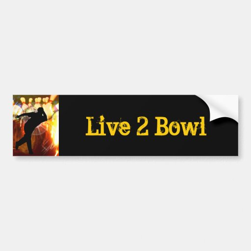 Bowler with Strike Explosion Bumper Stickers