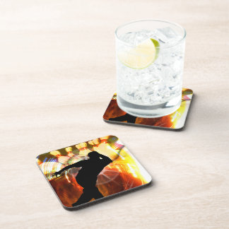 Bowler with Strike Explosion Drink Coaster