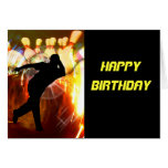 Bowler with Strike Explosion Greeting Cards
