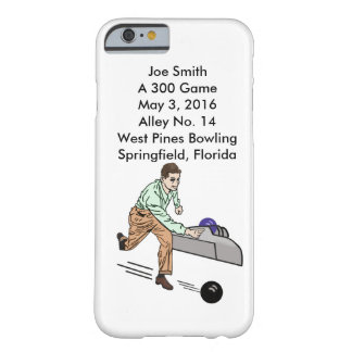 Bowlers 300 Game, Customizable Barely There iPhone 6 Case