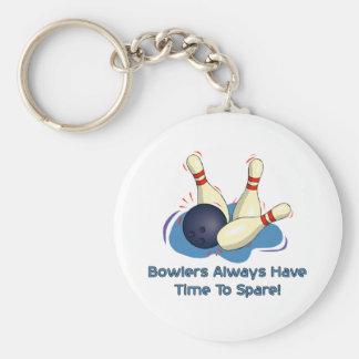 Bowlers Always Have Basic Round Button Keychain