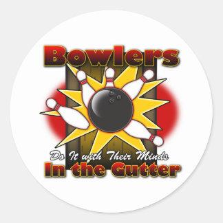 Bowlers Do It Classic Round Sticker
