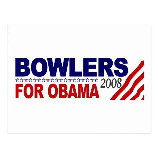 Bowlers For Obama Postcard