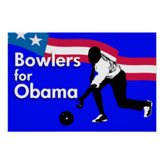 Bowlers for Obama Poster