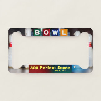 Bowler's Perfect 300 Game License Plate Frame