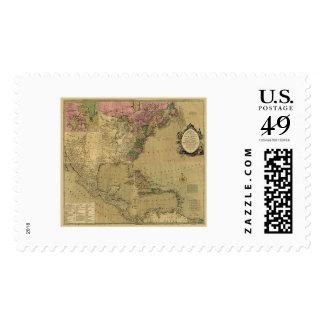 Bowles detalló el mapa de América - 1784 Estampilla