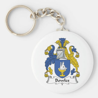 Bowles Family Crest Basic Round Button Keychain