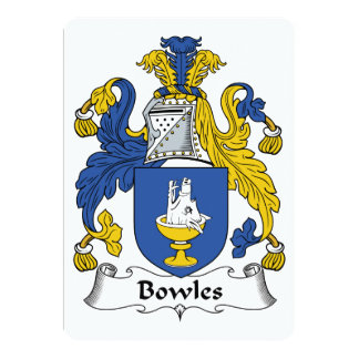 Bowles Family Crest Card