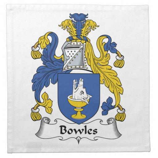 Bowles Family Crest Cloth Napkins