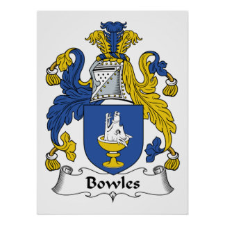 Bowles Family Crest Poster