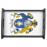 Bowles Family Crest Service Trays