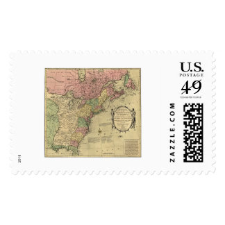 Bowles Map of America 1784 Postage