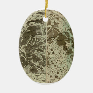 Bowles' Selenography or a Map of the Moon - 1780 Ceramic Ornament