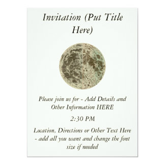 Bowles' Selenography or a Map of the Moon - 1780 6.5x8.75 Paper Invitation Card