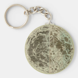 Bowles' Selenography or a Map of the Moon - 1780 Keychain