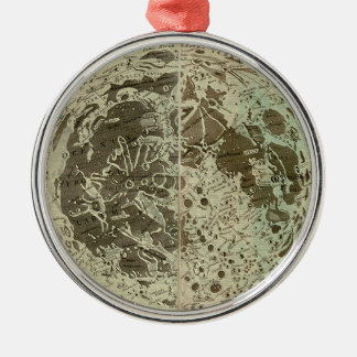 Bowles' Selenography or a Map of the Moon - 1780 Metal Ornament