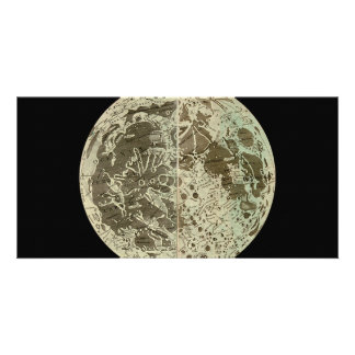 Bowles' Selenography or a Map of the Moon - 1780 Picture Card