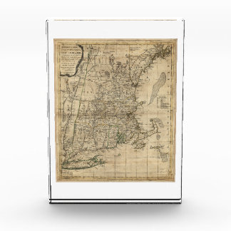 Bowles's Map the Seat of War in New England (1776) Acrylic Award