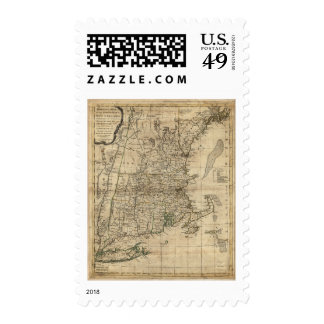 Bowles's Map the Seat of War in New England (1776) Postage
