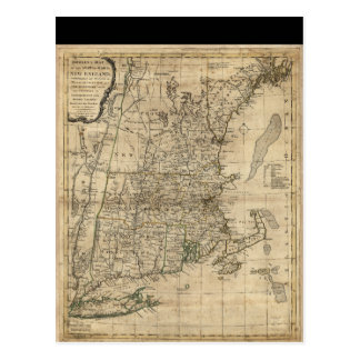Bowles's Map the Seat of War in New England (1776) Postcard