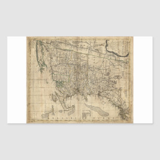 Bowles's Map the Seat of War in New England (1776) Rectangular Sticker