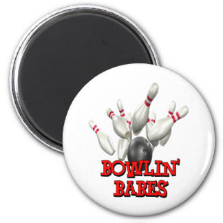 Bowlin' Babes Bowling Magnets