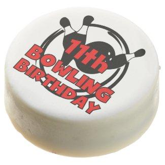 Bowling 11th Birthday Dipped Oreos Chocolate Dipped Oreo