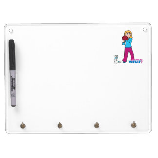 Bowling 1 dry erase board with keychain holder