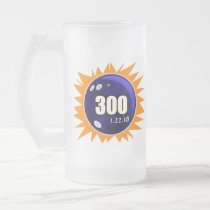 Bowling 300 Game Frosted Mug