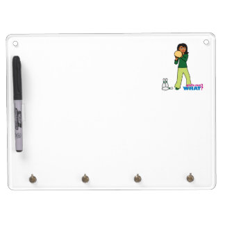Bowling 3 dry erase board with keychain holder