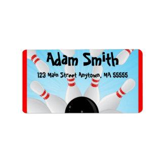 Bowling Address Labels
