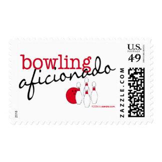 Bowling Aficionado Postage Stamps