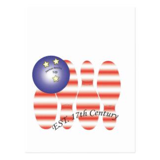 Bowling.ai americano tarjetas postales