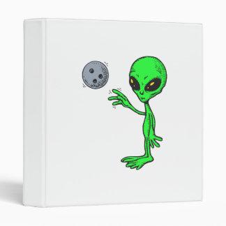 bowling alien 3 ring binder