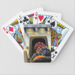 """Bowling Alley and bowling balls Bicycle Playing Cards<br><div class=""""desc"""">This wonderful image is perfect for those who love bowling.  Customize it as you with. Perfect for those tournament players or those who are weekend bowlers.</div>"""