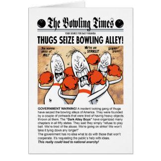 Bowling Alley Boys Greeting Card