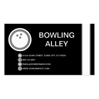 BOWLING ALLEY bubble Double-Sided Standard Business Cards (Pack Of 100)