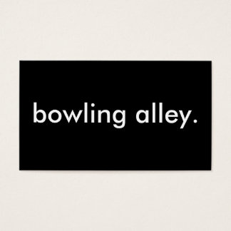 bowling alley. business card