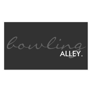 bowling alley. (color customizable) Double-Sided standard business cards (Pack of 100)