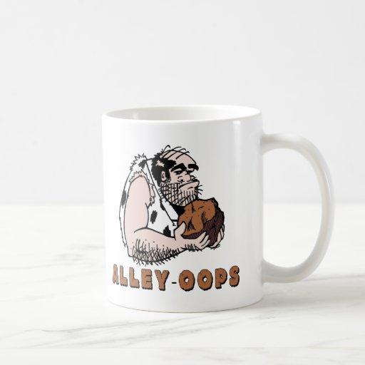 Bowling Alley oops! Caveman Coffee Mugs