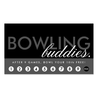 bowling alley rewards program Double-Sided standard business cards (Pack of 100)