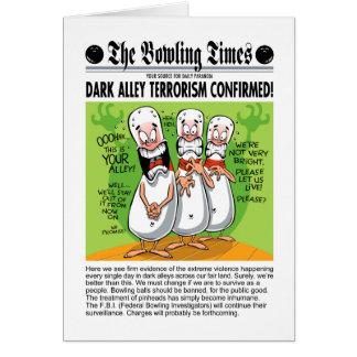 Bowling Alley Terror Card