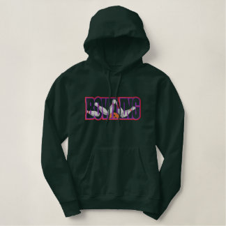 Bowling Applique Embroidered Hoodie