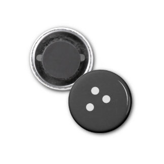Bowling Ball 1 Inch Round Magnet