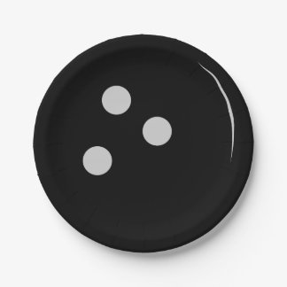 Bowling Ball 7 Inch Paper Plate