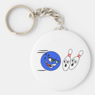 BOWLING BALL AFTER PINS KEYCHAIN