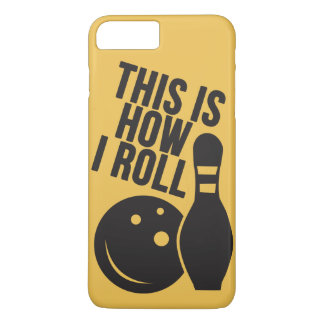 Bowling ball and pin. I love bowling. iPhone 8 Plus/7 Plus Case